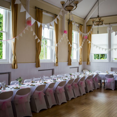 The Council Chamber decorated for a wedding reception