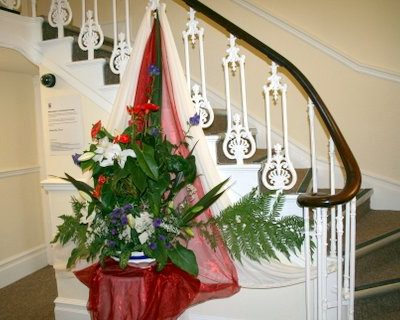 Manor House foyer and feature staircase