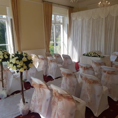 Mayors Parlour set out for a wedding ceremony