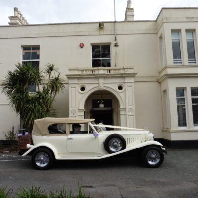 Wedding car outside the Manor House