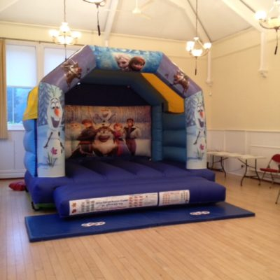 A picture of a bouncy castle in the Council Chamber - Click to open full size image