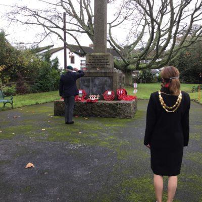 Mayor at Memorial Garden